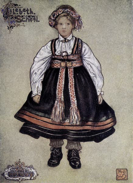 Norway, Painted and Described - A Little Saetersdalen Peasant Girl (1905)