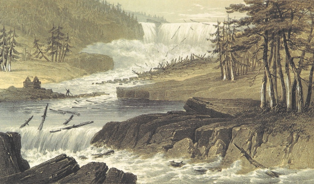 Norway in 1848 and 1849 - Falls of the Kid (1850)