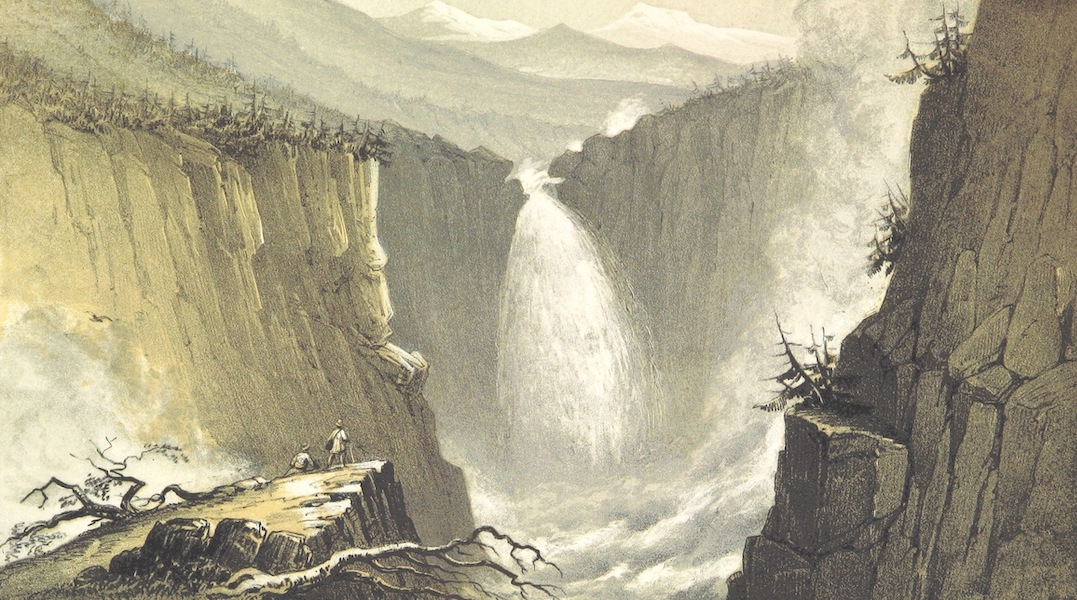 Norway in 1848 and 1849 - Rjukan Foss (1850)