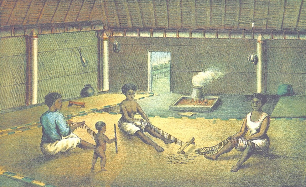 Notes of Travel in Fiji and New Caledonia - Interior of a Fijian House (1880)