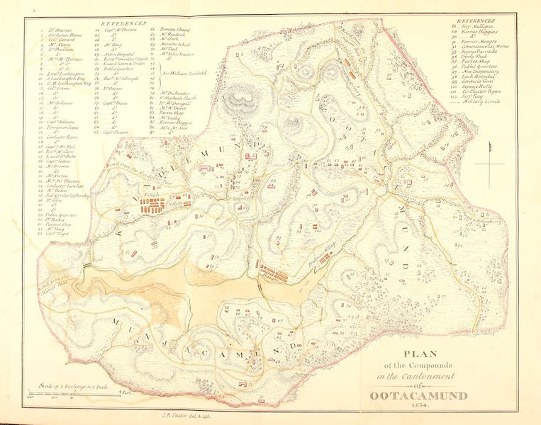 Observations on the Neilgherries - Plan of the Compounds in the Cantonment of Ootacamund [1834] (1834)