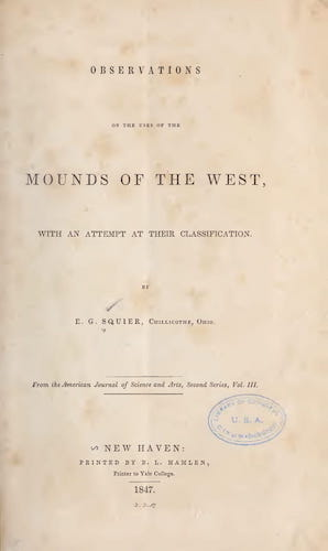 Archaeology - Observations on the Uses of the Mounds of the West