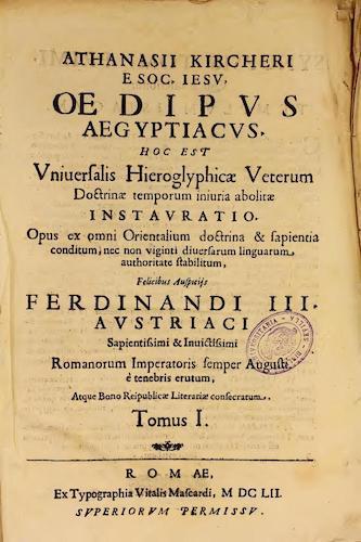 Fondo Antiguo de la Universidad de Sevilla - Oedipi Aegyptiaci Vol. 1
