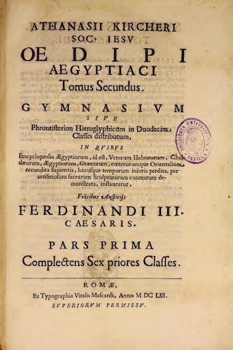 Fondo Antiguo de la Universidad de Sevilla - Oedipi Aegyptiaci Vol. 2, Pt. 1