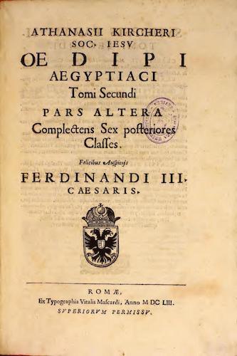 Latin - Oedipi Aegyptiaci Vol. 2, Pt. 2