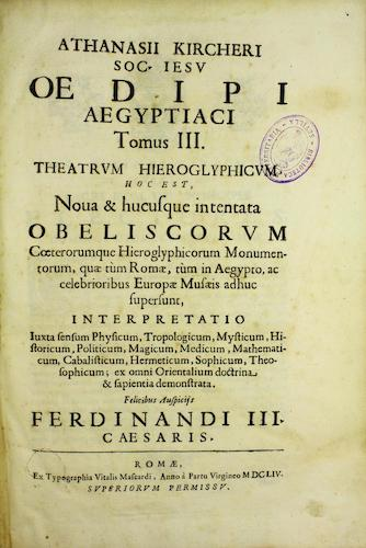 Fondo Antiguo de la Universidad de Sevilla - Oedipi Aegyptiaci Vol. 3