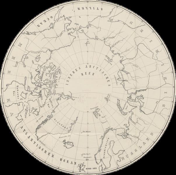 Oesterr.-Ungar. Arktische Expedition  - Uebersichts Karte des Arctischen Gebietes Gezeichnet von Karl Weyprecht (1879)