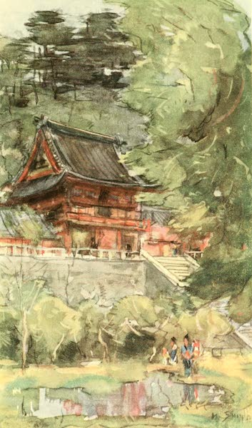 Old and New Japan - A Little Shrine set amid a wealth of Green (1907)