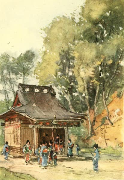 Old and New Japan - To these Temples come a succession of Worshippers (1907)
