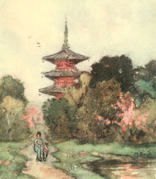 Old and New Japan - A Pagoda which has stood a thousand years (1907)