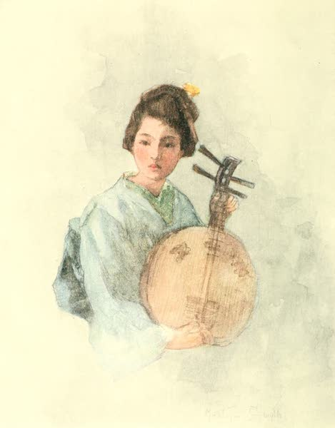 Old and New Japan - The Japanese Girl learns to play some Musical Instrument (1907)