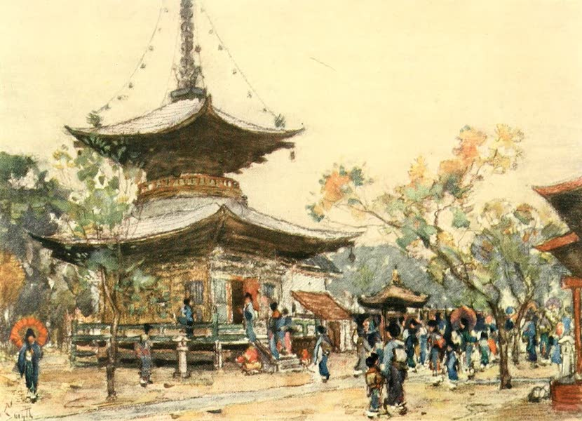 Old and New Japan - The Streets of almost every Town are wonderfully decorated (1907)