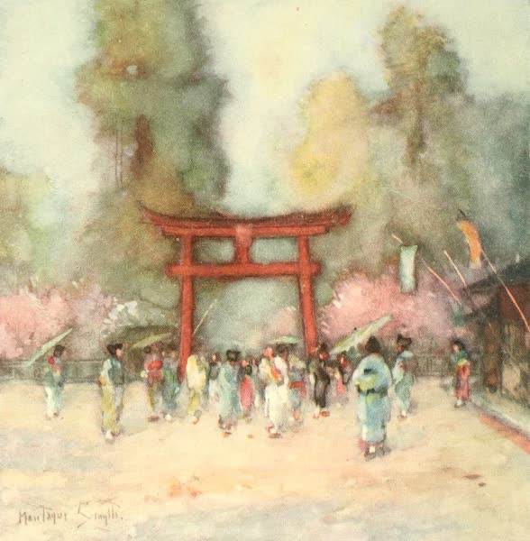 Old and New Japan - It is a very orderly Crowd which makes its way homeward from the Temple (1907)