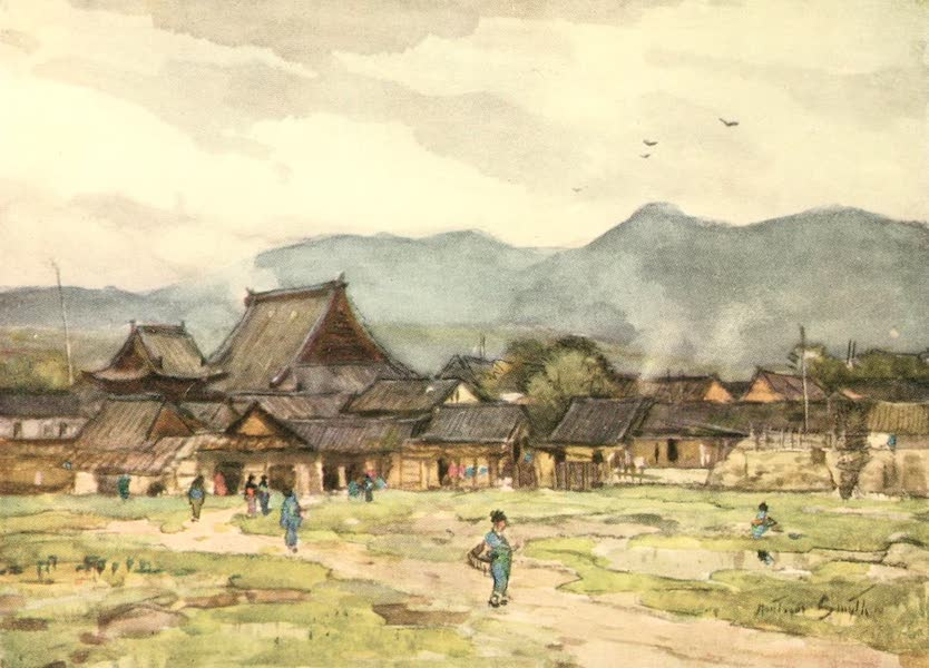 Old and New Japan - A Village of Farmers near Kyoto (1907)