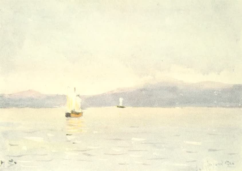 Old and New Japan - The Inland Sea, so often painted in bright though soft colours, has its grey days (1907)