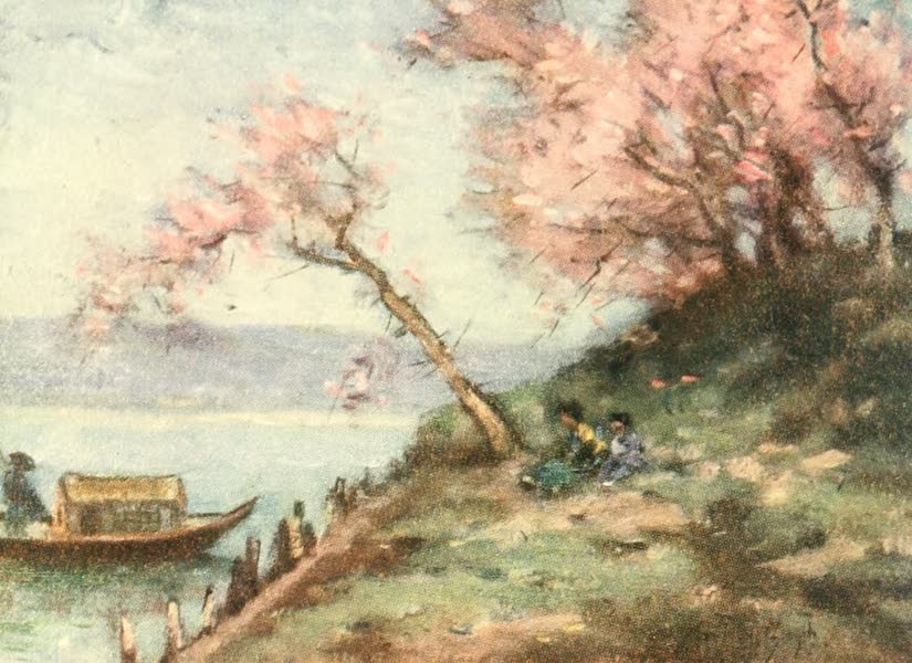 Old and New Japan - A peaceful Corner on a placid Lake (1907)