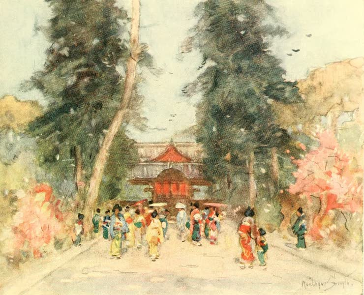 """Old and New Japan - A Flower Festival, which is usually a Japanese """"Bank Holiday"""" (1907)"""