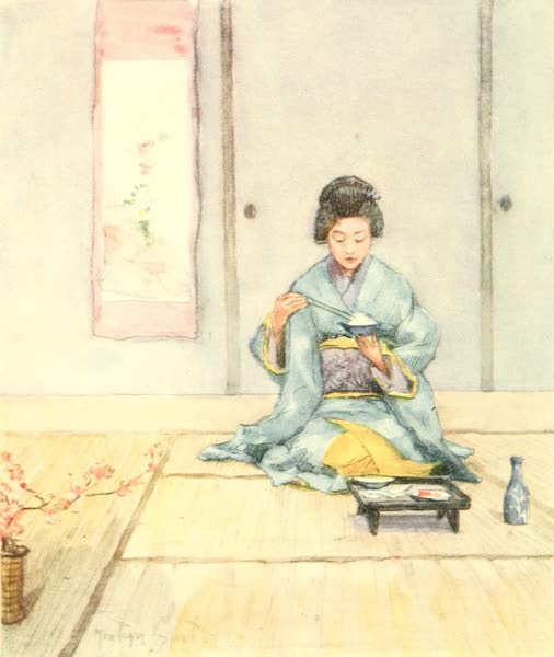 Old and New Japan - A Meal simply and daintily served (1907)