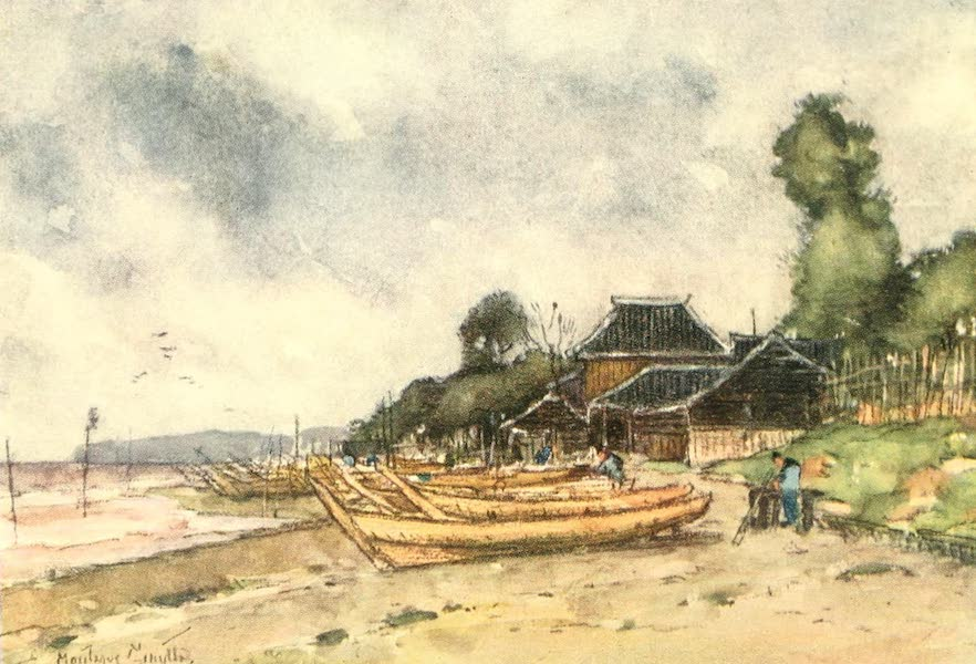 Old and New Japan - A Fishing Village on the Sea-coast, Hcmmoku (1907)