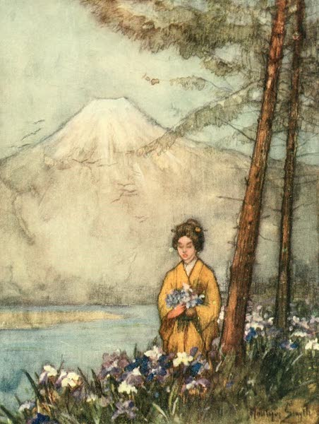 Old and New Japan - Irises by the Lake (1907)