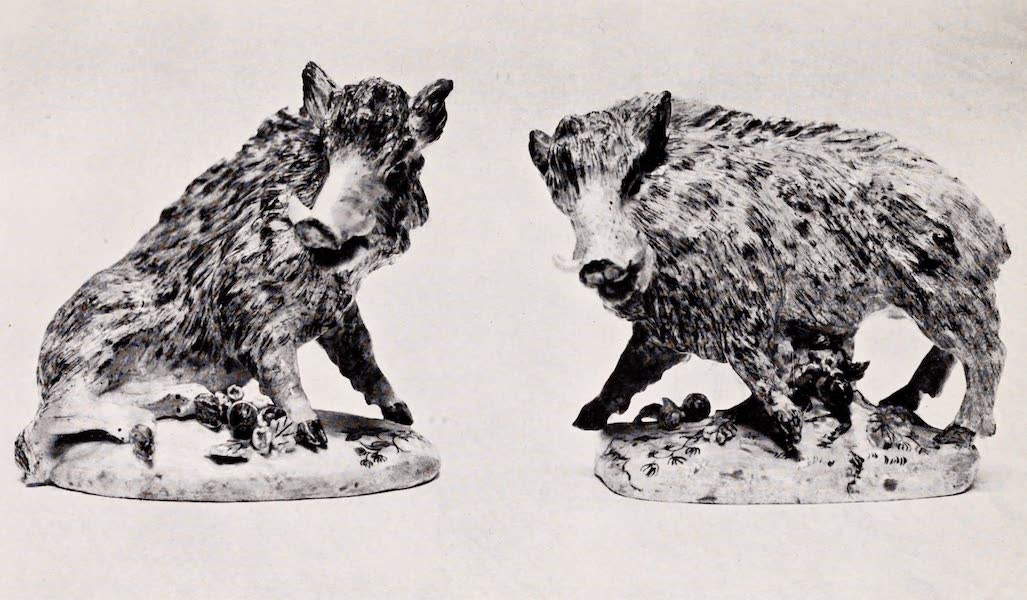 Old Bow China - The Florentine Boars (1909)