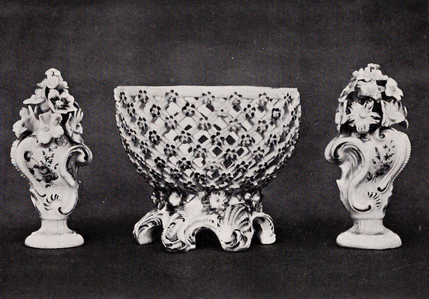 Old Bow China - Vases and a Basket (1909)