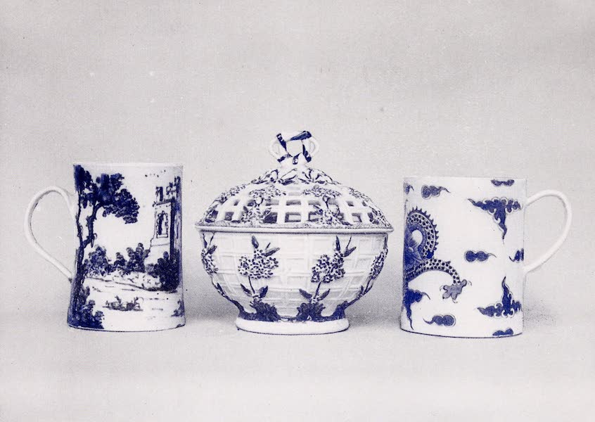 Old Bow China - An Ecuelle and Two Mugs (1909)