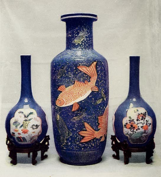 Old Chinese Porcelain - Powdered Blue with Coloured Decoration (1909)