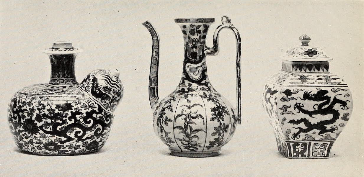 Old Chinese Porcelain - Ming Ewer, Jar, and Base of Water-Pipe (1909)
