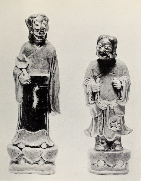 Old Chinese Porcelain - Two Kang-he Figures (1909)