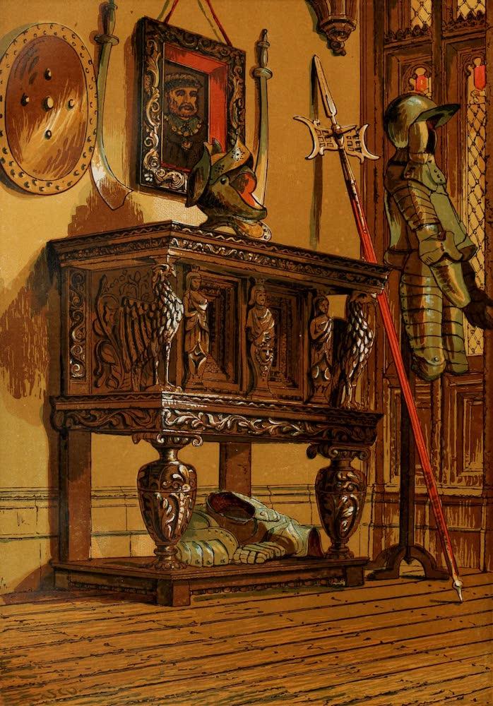 Old England Vol. 1 - Elizabethan Sideboard or Court Cupboard in Warwick Castle (1845)