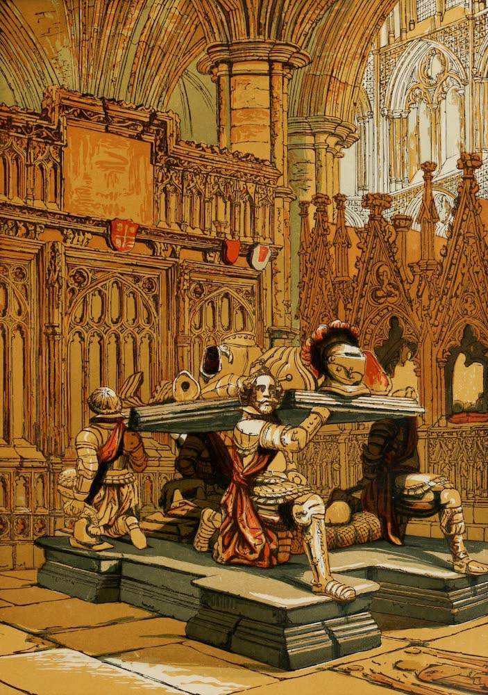 Old England Vol. 1 - Tomb of Sir Francis Vere in Westminster Abbey (1845)