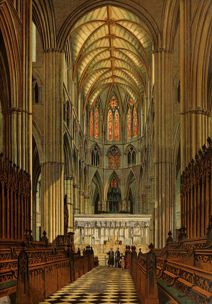 Old England Vol. 1 - The Choir Westminster Abbey (1845)
