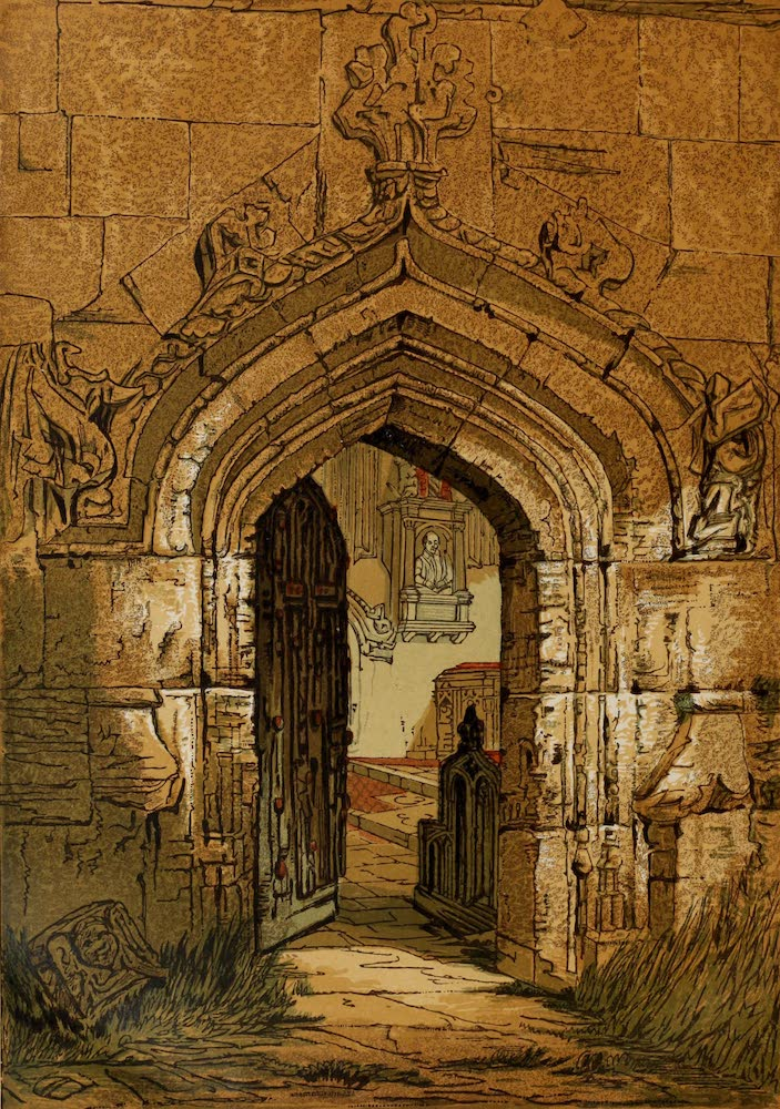 Old England Vol. 1 - Stratford Church, Interior Seen from the Door (1845)