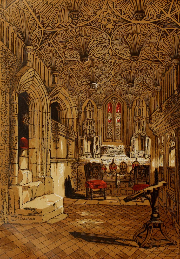 Old England Vol. 1 - Chantry Chapel Adjoining the Beauchamp Chapel Warwick (1845)