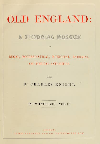 Old England Vol. 2 - Title Page (1845)