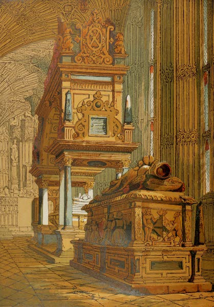 Old England Vol. 2 - Tomb of Mary Queen of Scots, Westminster Abbey (1845)
