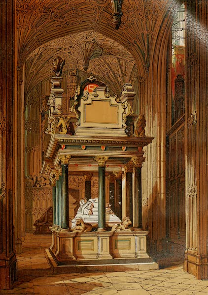 Old England Vol. 2 - Tomb of Queen Elizabeth, Westminster Abbey (1845)
