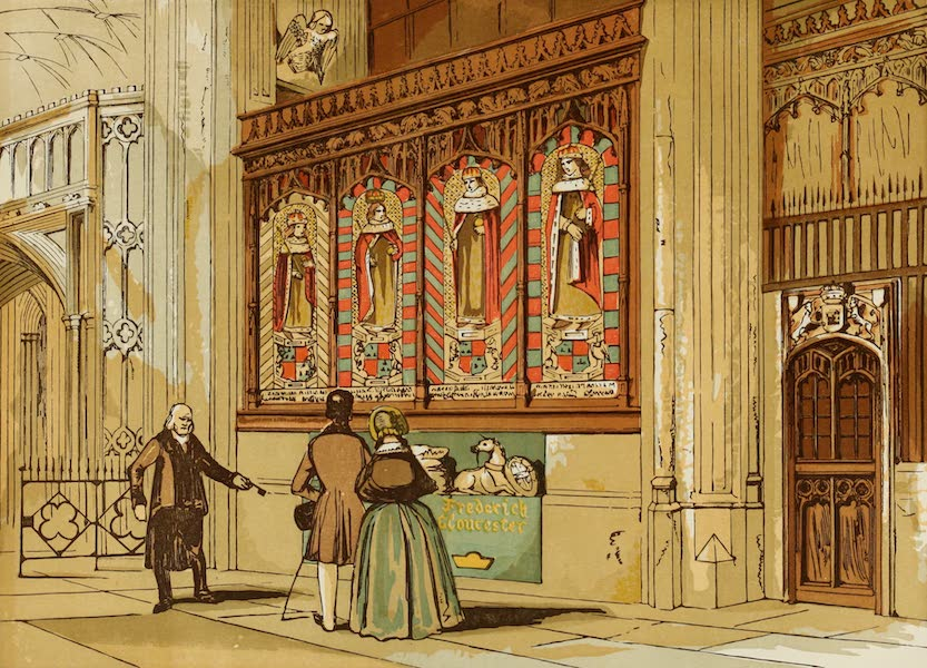 Old England Vol. 2 - Painted Screen, St. George's Chapel (1845)