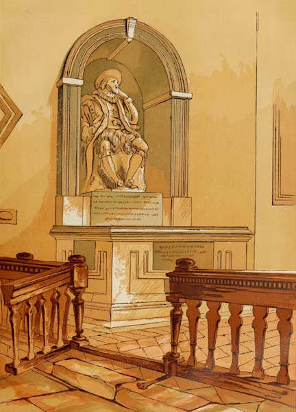 Old England Vol. 2 - Monument of Lord Bacon in St. Michaels Church Near St. Albans (1845)