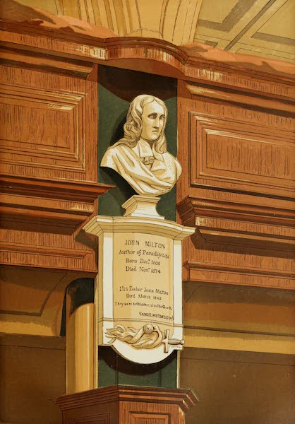 Old England Vol. 2 - Miltons Monument in St. Giles Church, Cripplegate (1845)