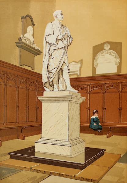 Old England Vol. 2 - Statue of Sir Issac Newton at Cambridge (1845)