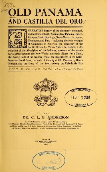 Old Panama and Castilla del Oro - Title Page (1911)