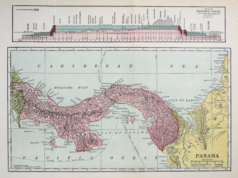 Old Panama and Castilla del Oro - Map of the Republic of Panama and of the Canal (1911)