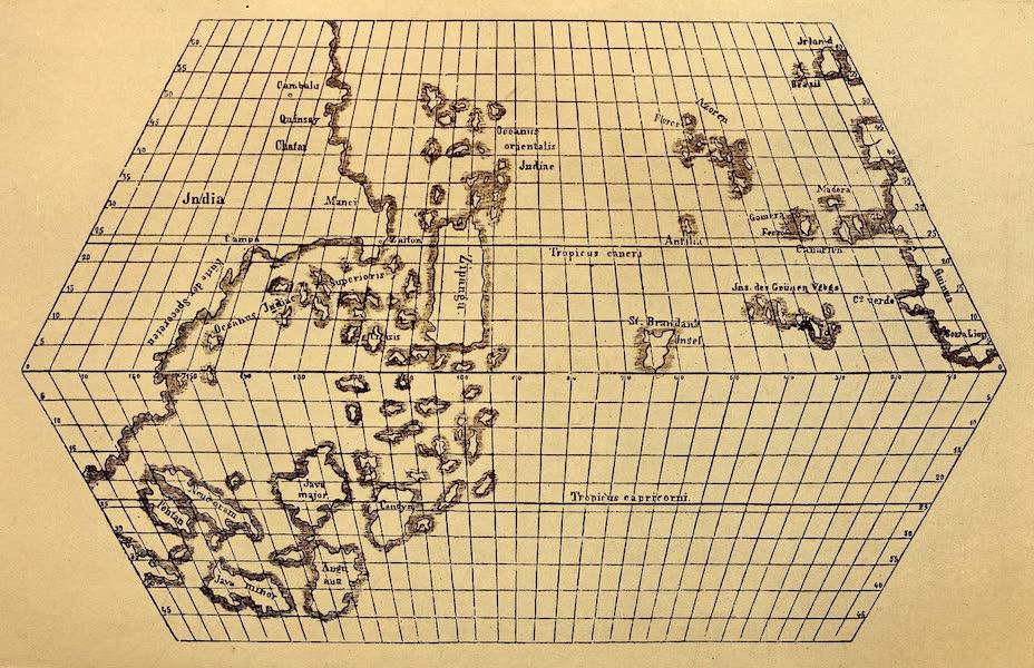 Old Panama and Castilla del Oro - Restored Toscanelli chart of 1474 (1911)