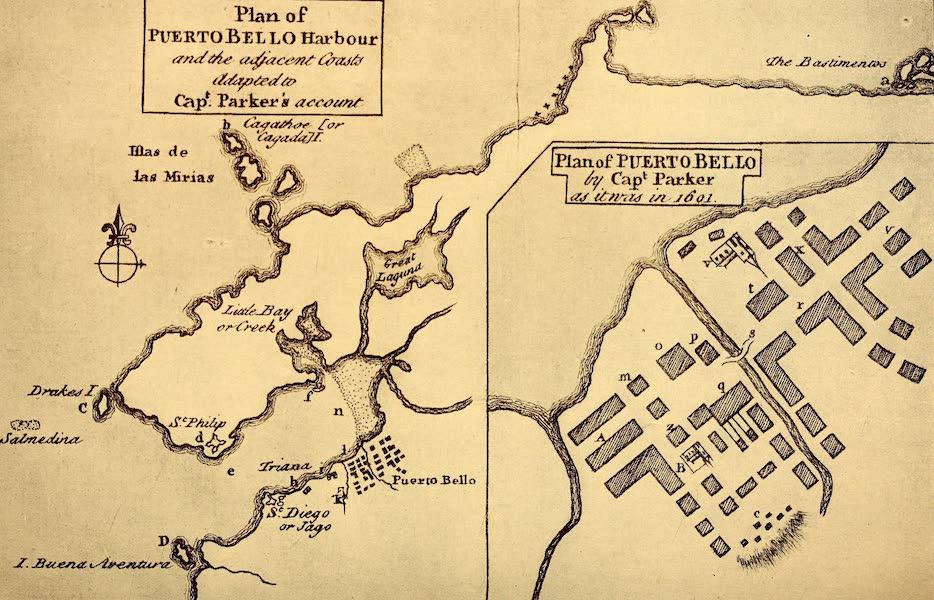 Old Panama and Castilla del Oro - Plan of Portobelo, in 1602 (1911)