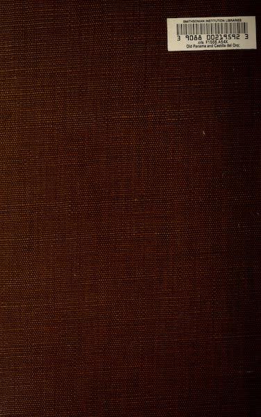 Old Panama and Castilla del Oro - Back Cover (1911)