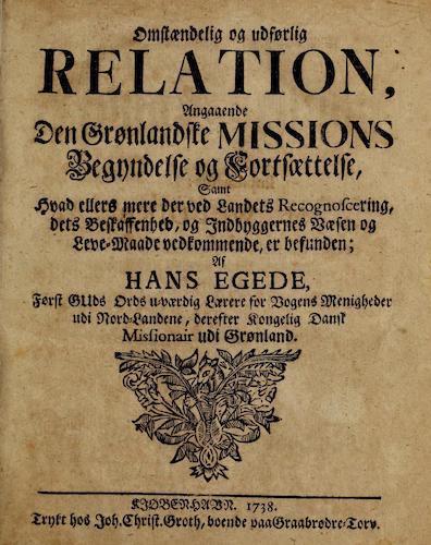 Danish - Omstaendig og Udforlig Relation Angaaende den Gronlandske Missions