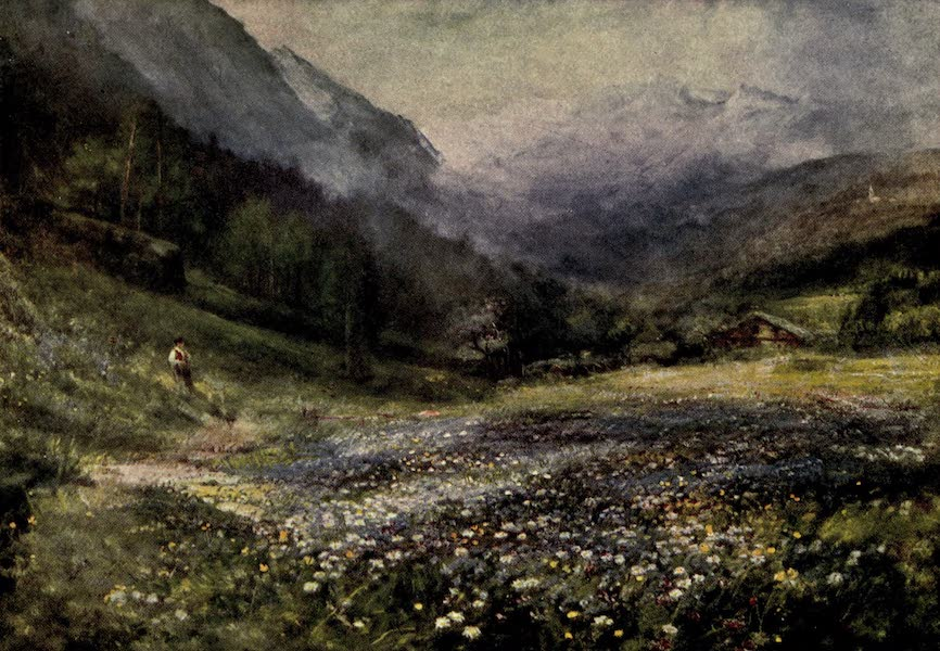 On Old-World Highways - The Mountain Meadows, Bavarian Tyrol (1914)