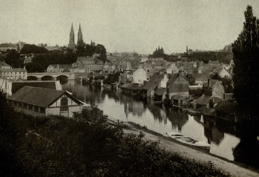 On Old-World Highways - St. Lo from the River (1914)
